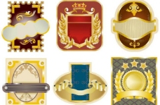 金色欧式标签lable图片