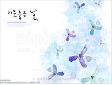 淡彩花朵图片