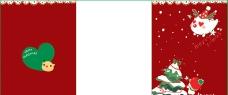 暗红色可爱小孩圣诞贺卡图片