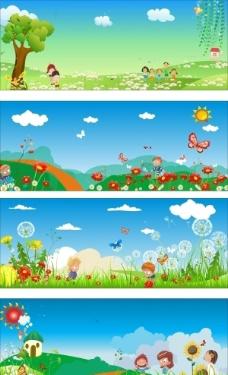 卡通幼儿园背景图片