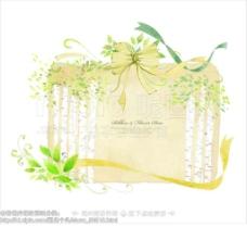 手绘彩带花边图片