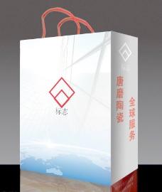 陶瓷手提袋 (注平面图)图片