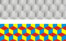 立体格子图片