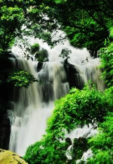 东溪古镇太平桥瀑布图片