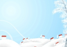 卡通冬季背景图片