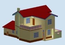 农村别墅室外模型图片