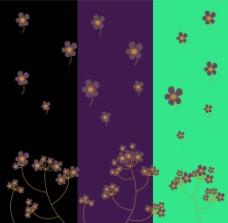 紫色小花 矢量素材图片
