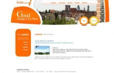 韩国橙色商务网页模板系列 内页图片