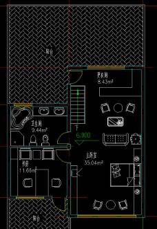 高尔夫别墅 联排住宅三层平面图片