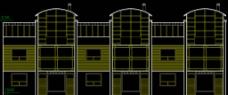 高尔夫别墅 联排住宅南立面图片