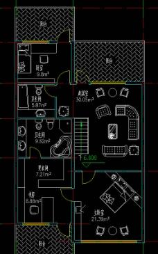 高尔夫别墅 联排住宅三层立面图片