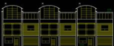 高尔夫别墅 联排住宅北立面图片