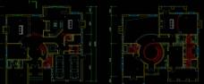 别墅一二层平面图片