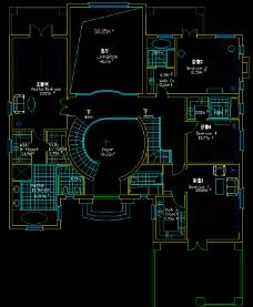 别墅二层平面图片
