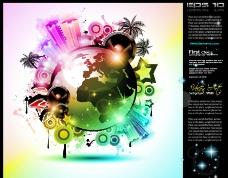 激情音乐海报背景图片