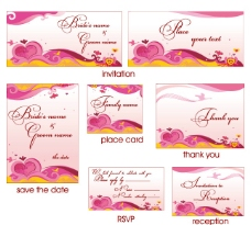 粉红色的卡片模板图片