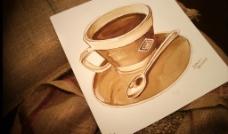 手绘咖啡杯图片