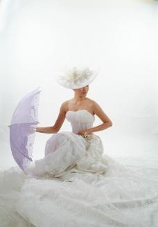 浪漫女人雨伞图片