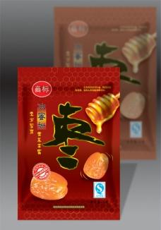 冰糖蜜枣包装图片