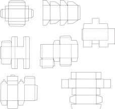 包装结构矢量图形图片