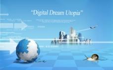 蓝色梦想地球图片