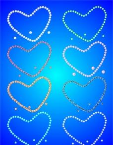 珍珠爱心图片