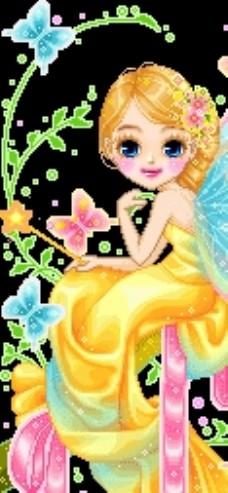 穿黄裙子女孩1图片