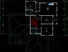 单体别墅二层平面图片