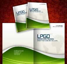 绿色科技业画册封面模板图片