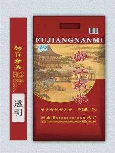 富江南米大米包装图片