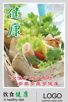 饮食健康文化展板图片