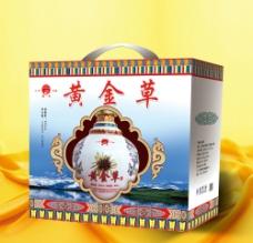 黄金草酒图片