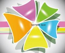 动感三角形卡纸标签图片