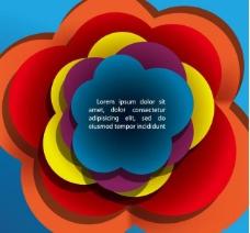 绚丽动感云朵花朵标签背景图片