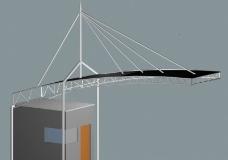 室外钢结构门卫室图片