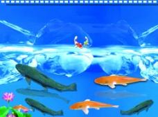 鱼背景图片
