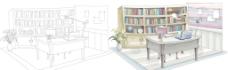 韩国手绘风格室内设计图片