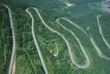山区道路自然风景图片