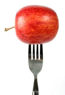 刀叉 苹果图片