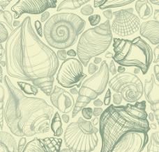 手绘海洋生物背景图片