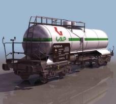 古老火车3d模型带贴图材质图片