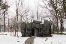 石头小屋图片