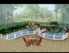 别墅花园园林设计图片