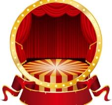 舞台幕布标签贴纸图片