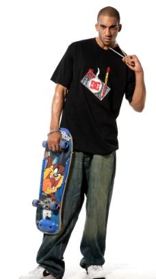 街头潮流滑板项链图片