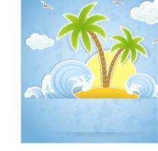 夏日海洋風景圖片