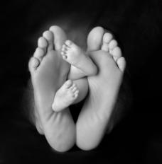 大脚和小脚图片