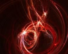 红色眩光图片