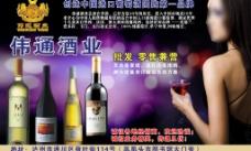 伟通红酒宣传单图片