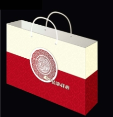 中式手提袋 (展开图)图片